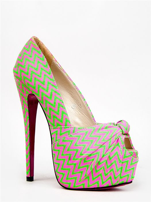 d28d87500d Red Kiss ZIZI Zigzag Knotted Peep Toe Pump -