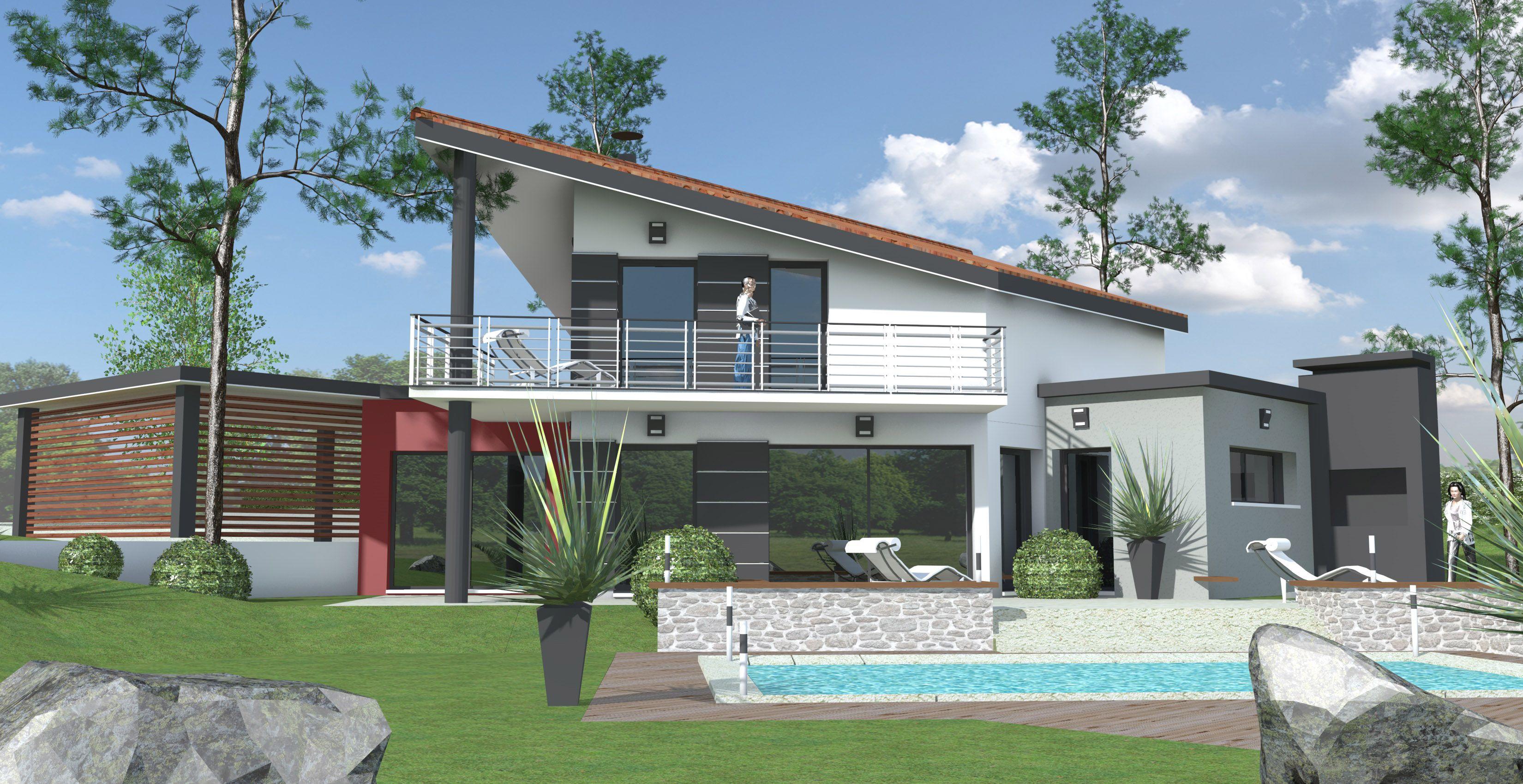 Nouveau Projet Maison Contemporaine A Etage Qui Mele La
