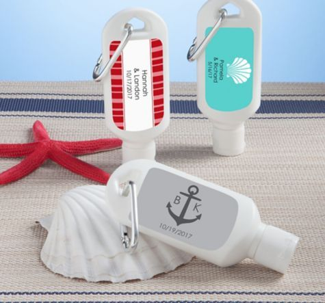 Personalized Sunscreen Wedding Favors BrPrinted Label Br