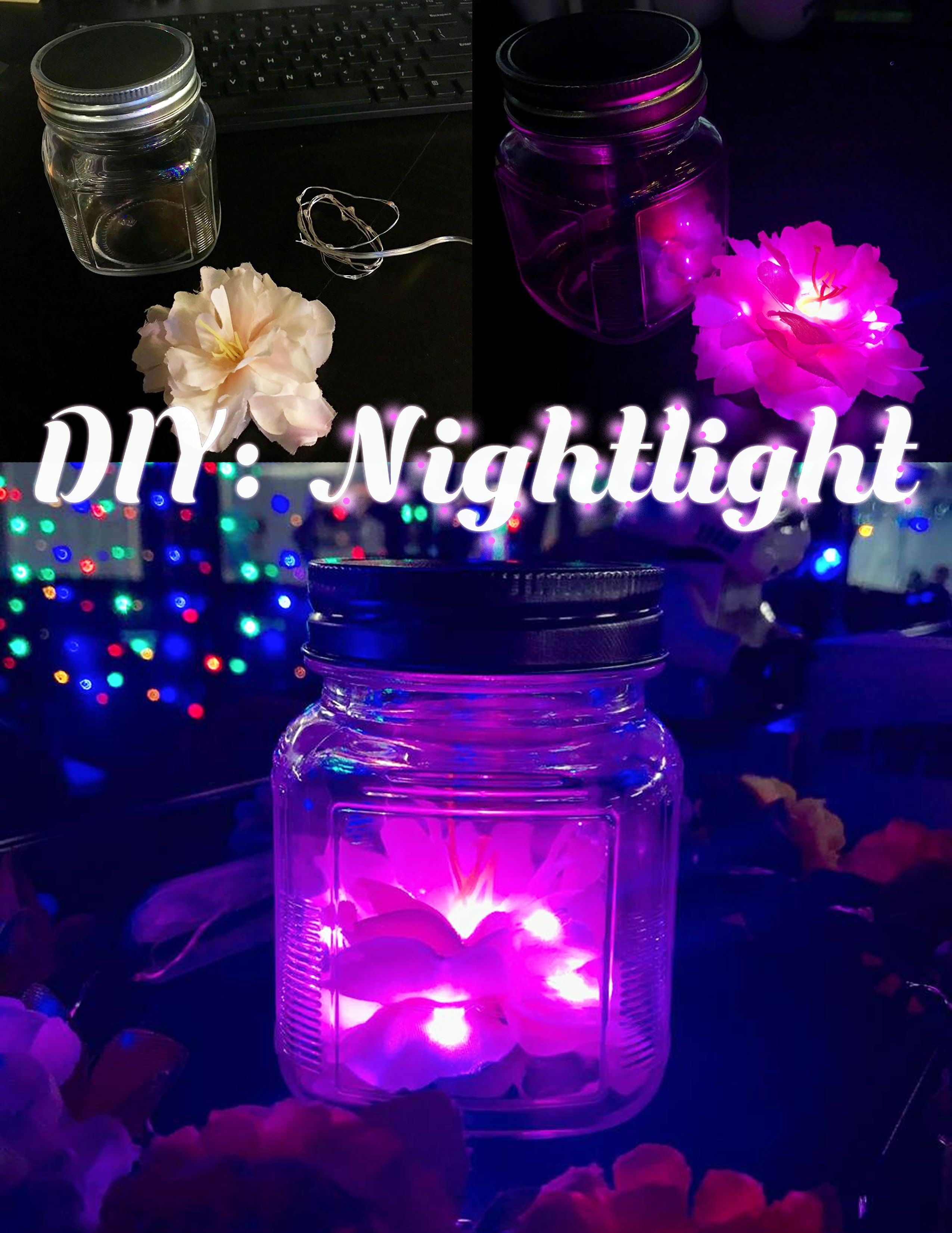 Creating your own unique nightlight is easy