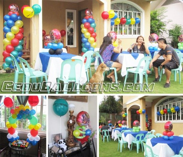 Avengers Balloon Setup At Alpha Executive Homes In Talisay