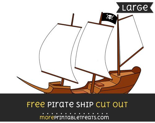 Free Pirate Ship Cut Out - Large size printable Halloween