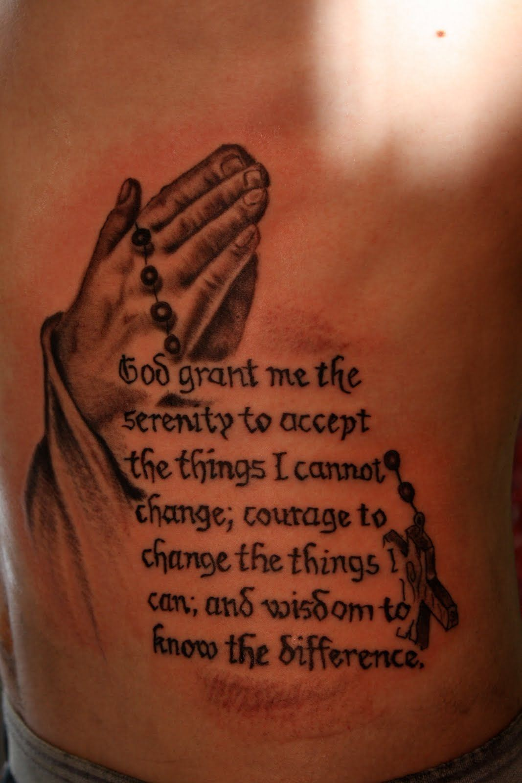 Rosary tattoos for men on arm - Serenity Tattoo Ideas For Men Serenity Prayer Tattoo