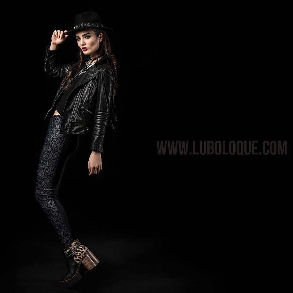 PARIS black&print boots +  LION leather Jacket !