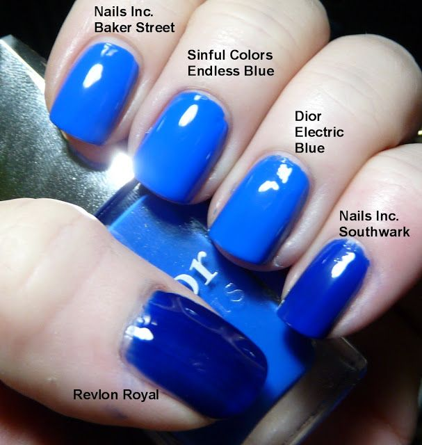 Thrifty Thursday With Sinful Colors Endless Blue And An Electric Blue Comparison Pointless
