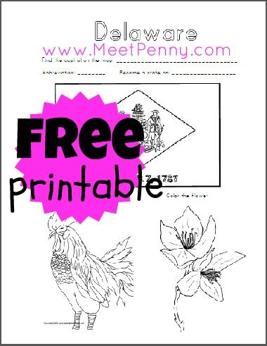 From Road Trip USA Delaware Free printable worksheets, Printable