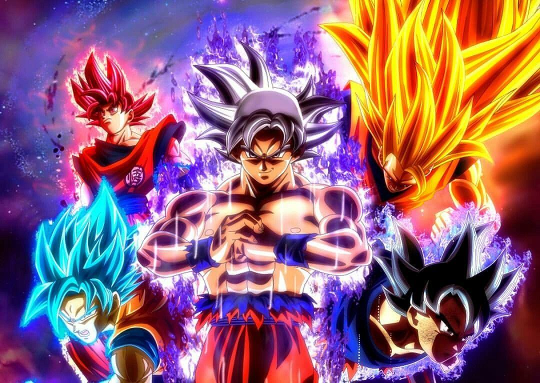 Goku S Forms Super Saiyan 3 Super Saiyan God Super Saiyan Blue Ultra Instinct Mastered Ultra Anime Dragon Ball Super Dragon Ball Wallpapers Anime Dragon Ball