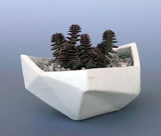 small geometric planter by bkb ceramics