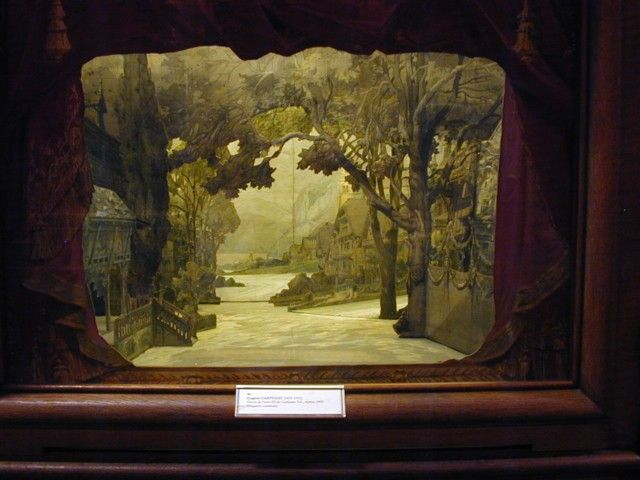 Model of scenery from William Tell | Teatro