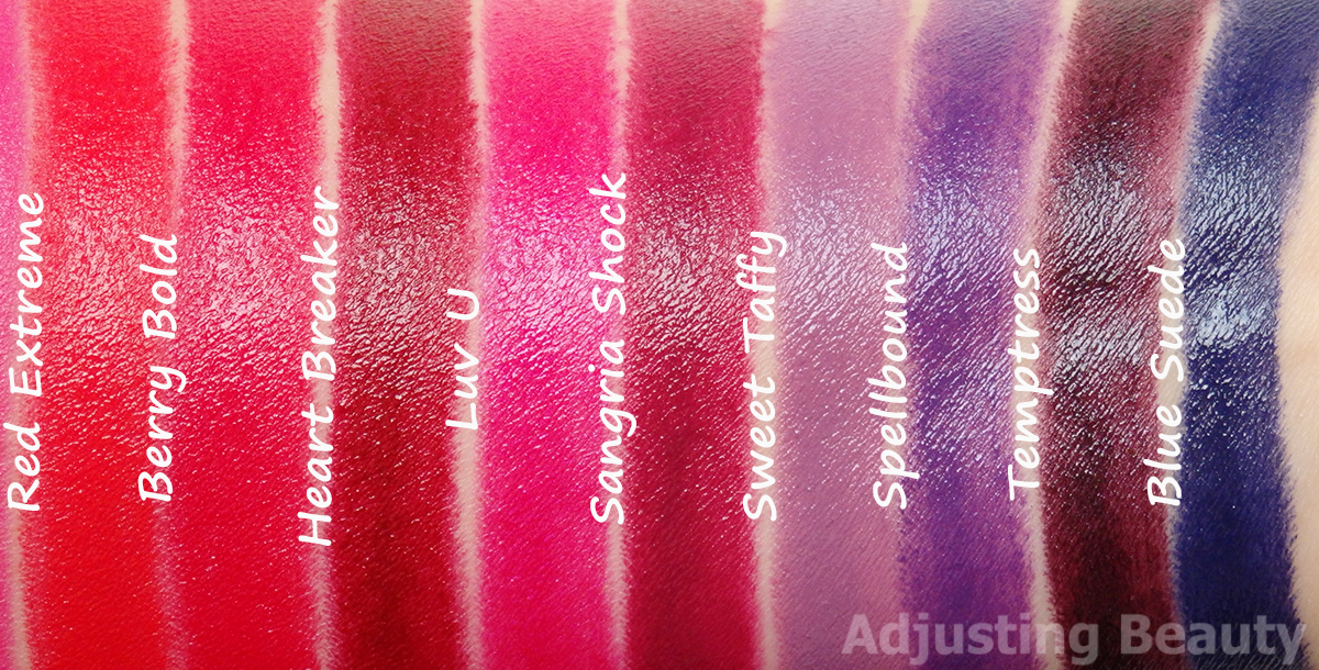 Review And Swatches Of Avon Mark Epic Lip Lipsticks All Shades