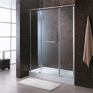Simple Bathrooms With Shower 2nd choice if not building a walk in shower. $849.99 costco com