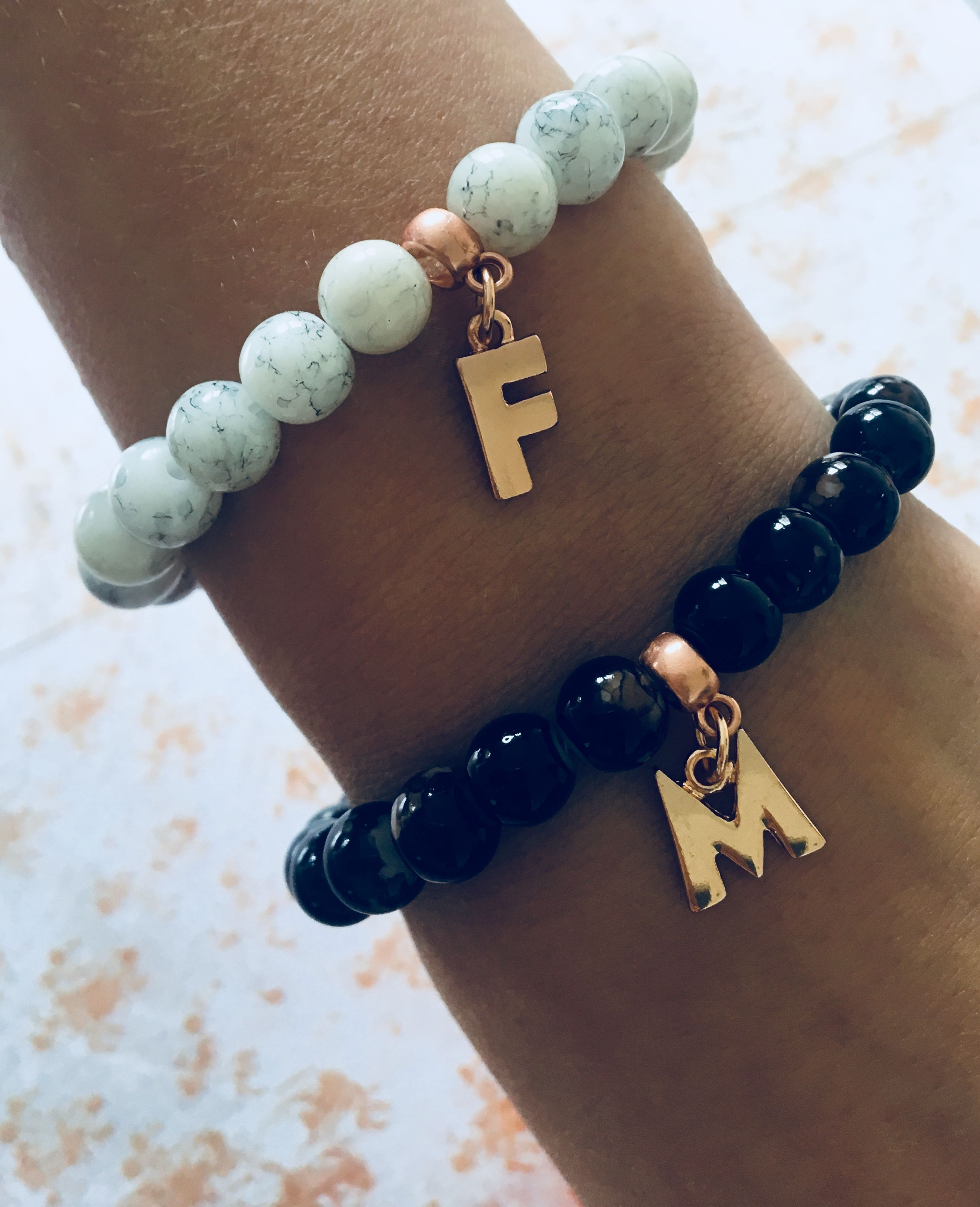 HIS AND HER matching jewellery - couples bracelets - His ...