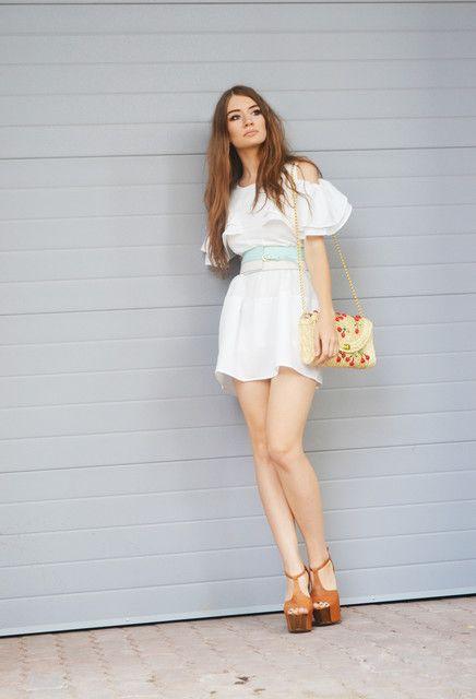 Enchanting Cutout Sleeves Solid Dress