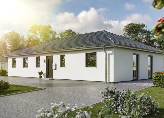 Massivhaus BUNGALOW 131 modern mit Walmdach Town