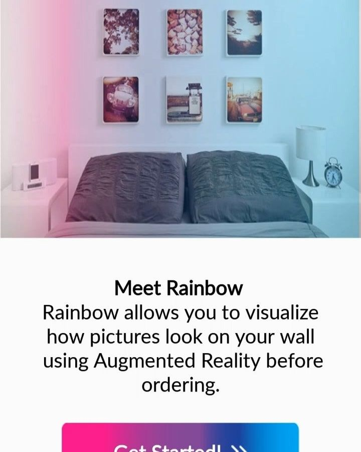 Rainbow Canvas Printing Mobile App Helps You To Visualize How Pictures Looks On Your Wall Then You Can Send Them To Your Home Prin Canvas Prints Visual Canvas