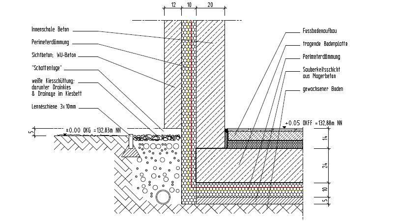 Detail Fassade - Sichtbeton