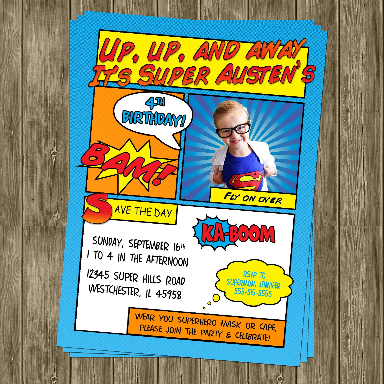 Superhero Birthday Invitation - Inviting Printables | Superhero ...