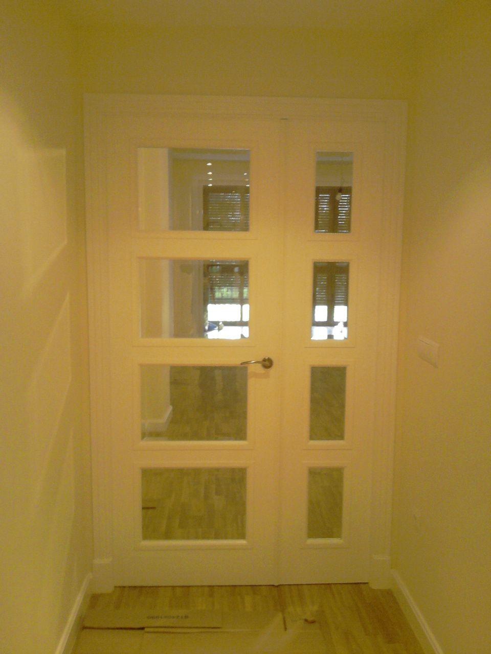 Modelo 5400 Rtl V4 Doble Con Cristal Biselado Transparente Puertas De Aluminio Blanco Puertas Interiores Puertas De Aluminio