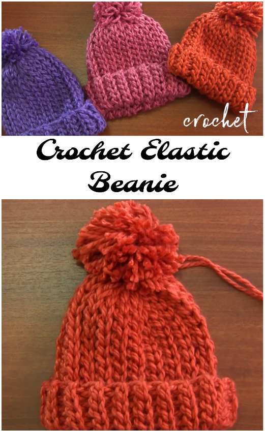 Crochet Elastic Beanie | Knitting Bordado | Pinterest