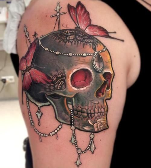 wow.. I wouldn't get a skull but the detail and colour is amazing!