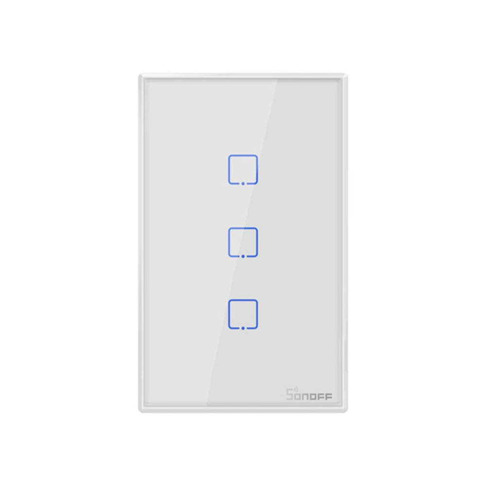 Smart Wifi Touch Wall Light Switch Sonoff T2us Tx Border Smart Home 1 2 3 Gang 433 Rf Voice App Control Us Standard In 2020 Light Switch Smart Home Wall Lights