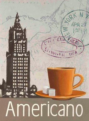 Marco-Fabiano-Round-the-World-Americano-Fertig-Bild-24x30-Wandbild - wandbilder für küche