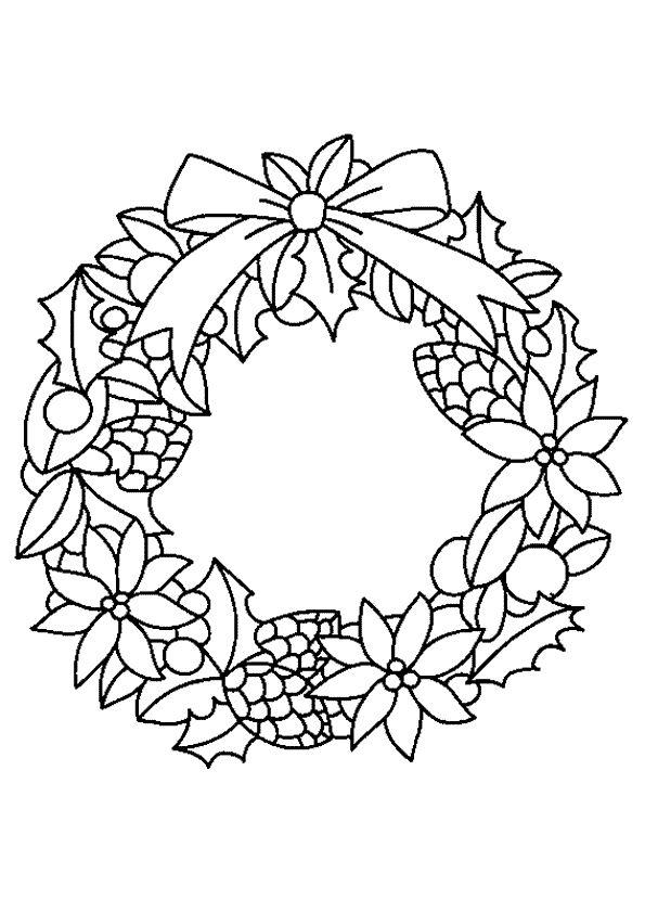 Рождественские венки рисунок