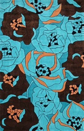 Rugs USA Keno Floral ACR217 Pool Rug Home decor, interior design, area rugs, floral, style, create, inspire, home, house, decor.