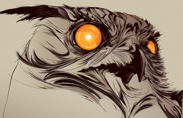 Now Showing . Blade Runner by Kako , via Behance | Abstract owl ...