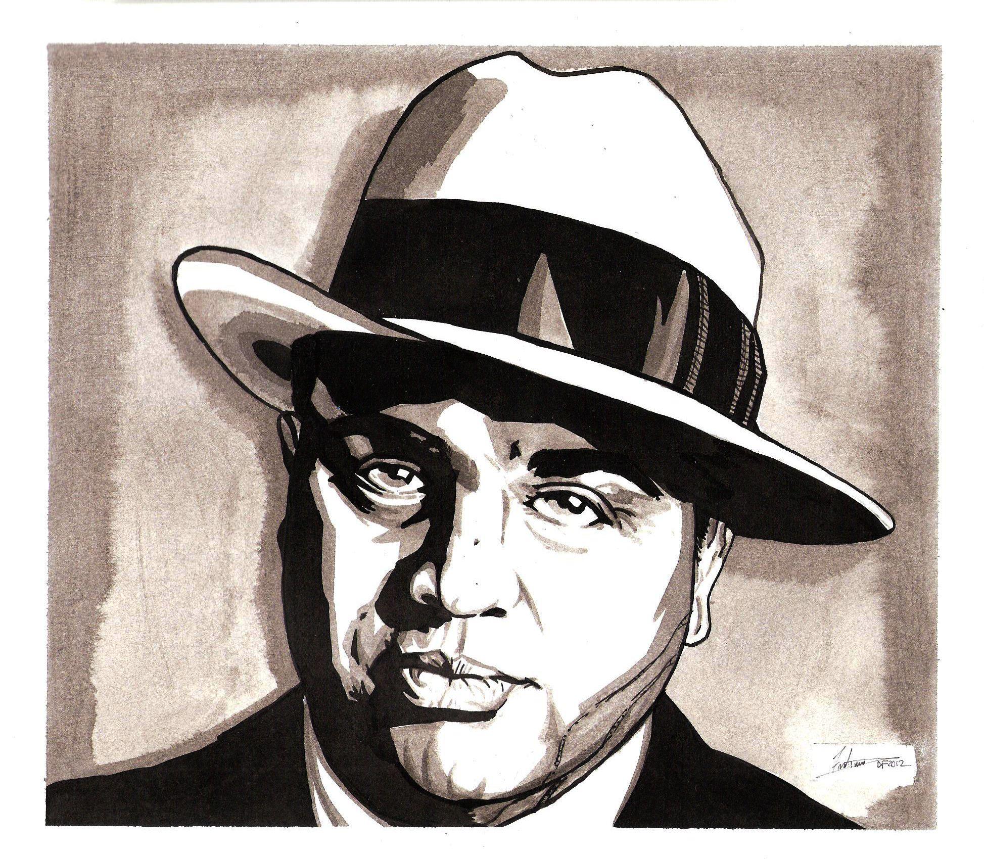 Al Capone By Dredfunn On Deviantart Al Capone Drawings Art