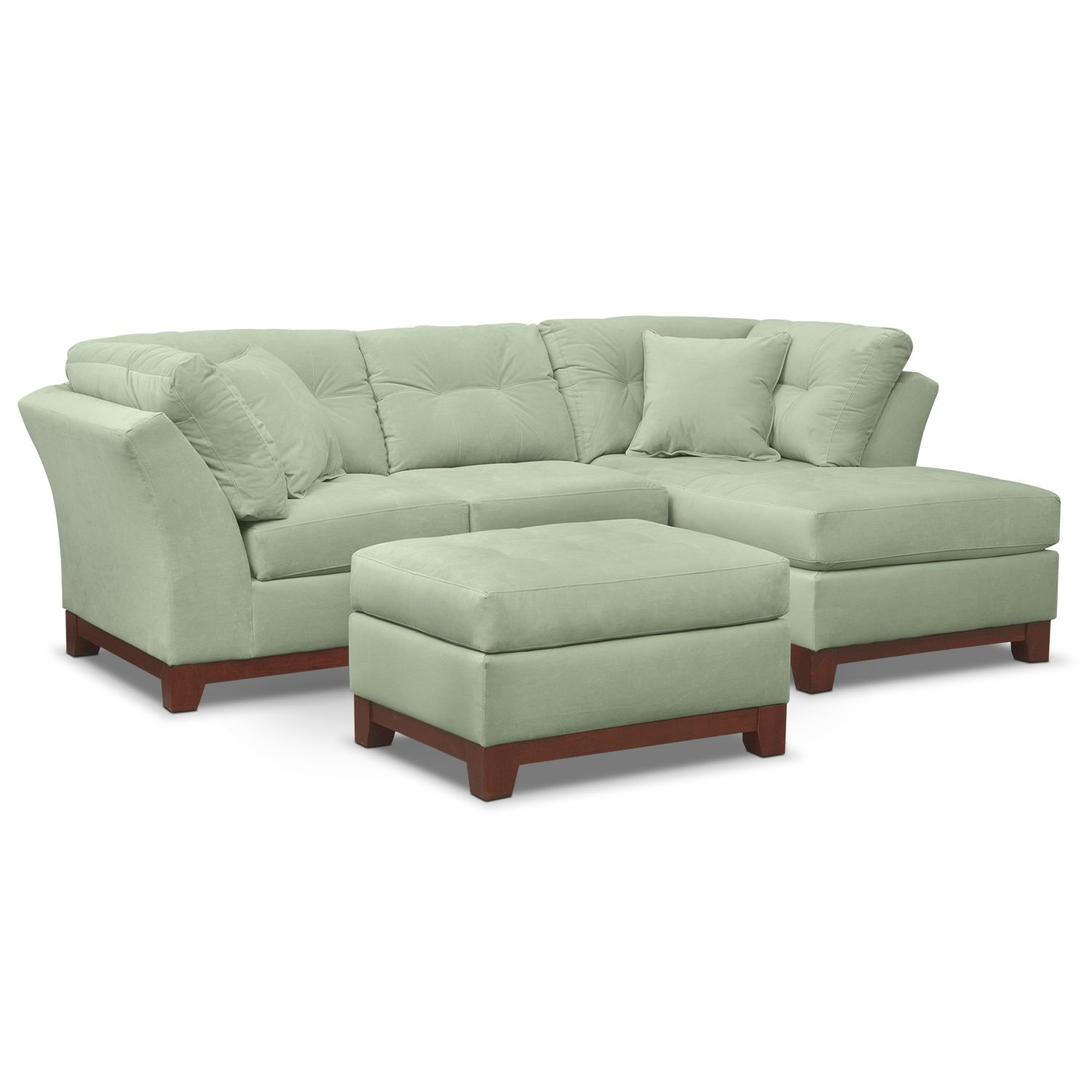living room furniture solace spa ii 2 pc sectional alternate