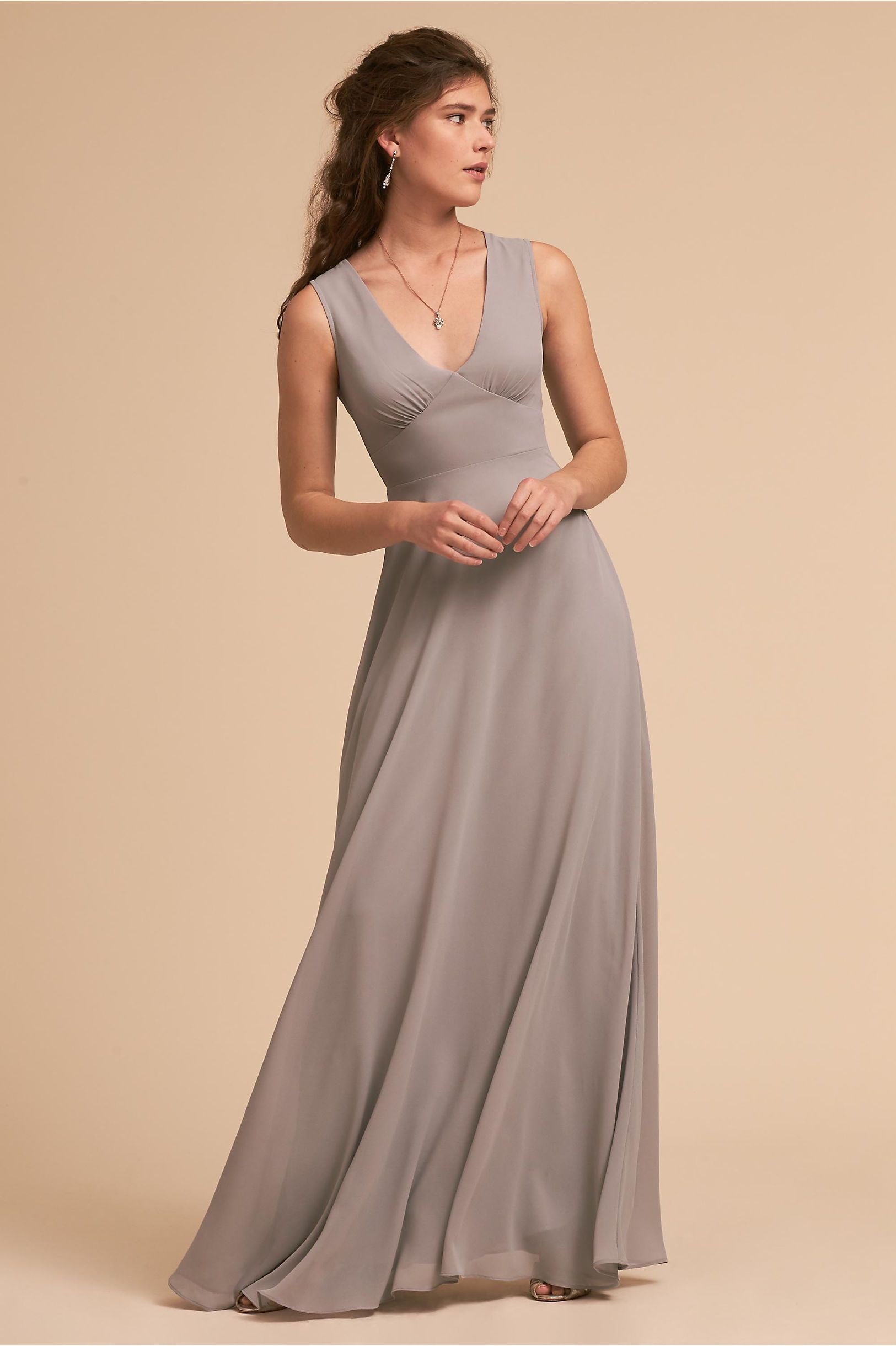 Dress for wedding party for girl  BHLDN Capulet Dress Grey in Bridal Party  BHLDN  THE BRIDESMAIDS