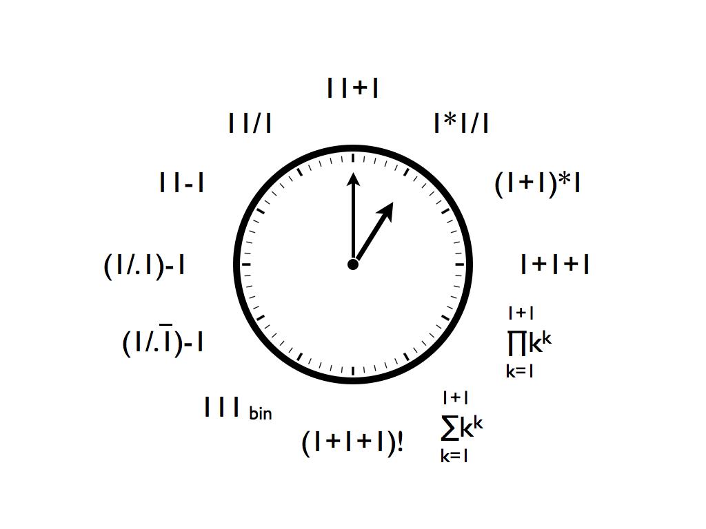 One O Clock Clock Wall Clock Math