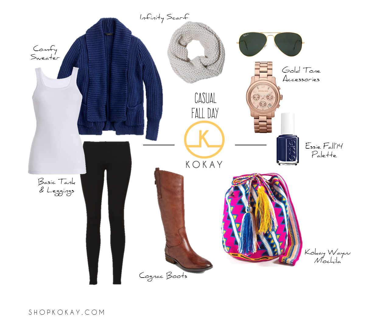 Casual Fall Day Outfit. Loving fall! Black leggings, basic white ...