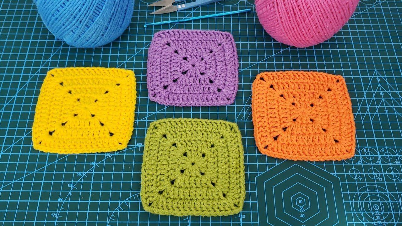 Quadrado De Croch㪠Perfeito Perfect Solid Crochet Granny Square Tutorial De Croch㪠Diy Quadrados De Croche Tutorial De Crochê Quadradinhos De Croche