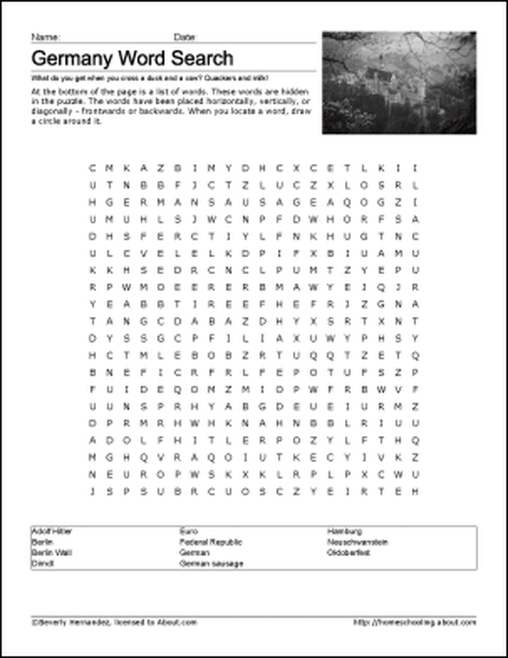 Discover Germany with Free Printable Worksheets!   Pinterest   Deutsch