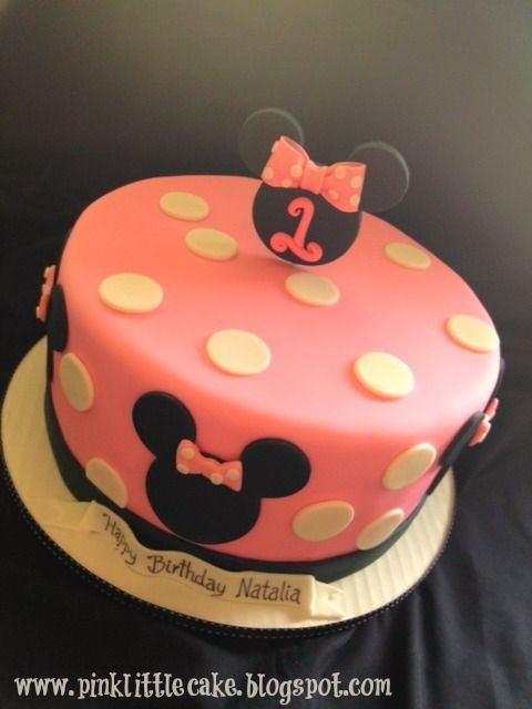 Terrific Small Minnie Mouse Cake With Images Minnie Mouse Cake Minnie Personalised Birthday Cards Paralily Jamesorg