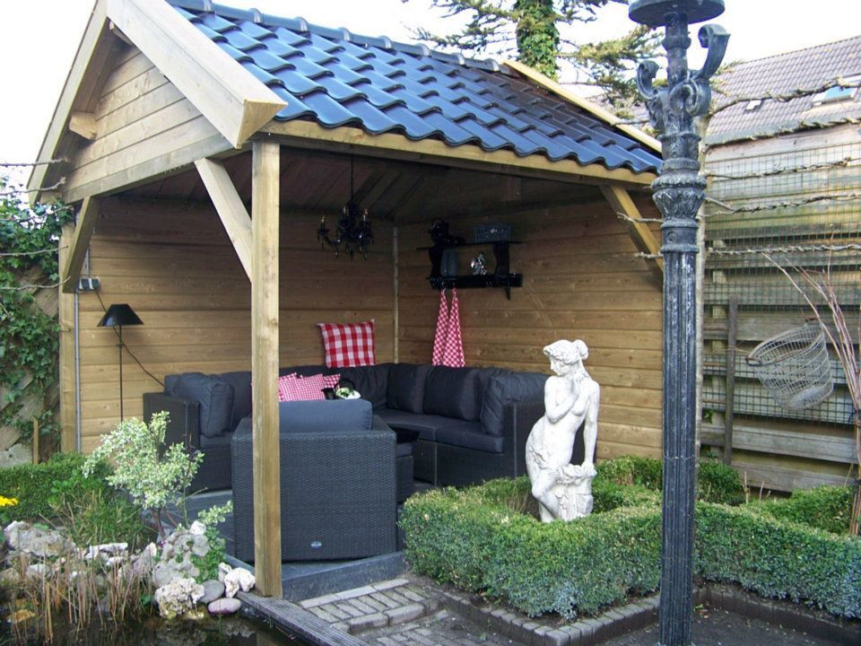 Overkapping Kleine Tuin : Gezellige overkapping veranda voor een kleine tuin op maat
