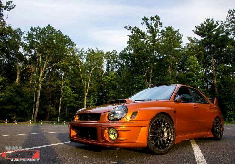 Orange Subaru
