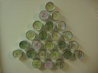 Christmas tree advent calendar and activity ideas.
