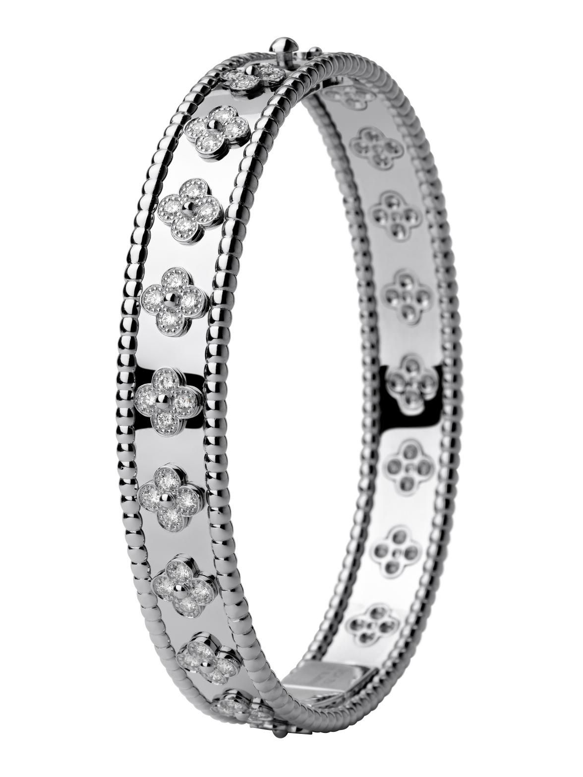 Van Cleef & Arpels 18k Perlee Diamond Bracelet at London Jewelers!