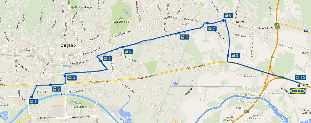 Autobus Ikea Map Screenshot Map