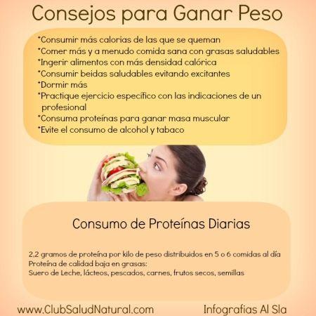 Dietas saludables para subir de peso