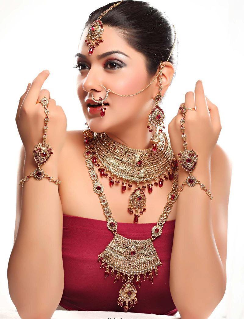Bridal Maang Tikka Jewelry Set For Wedding Day