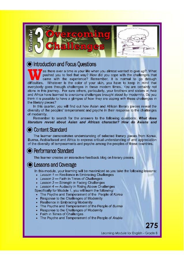 Dep Ed Grade 8 English Learning Guide Quarter 3 Learn English