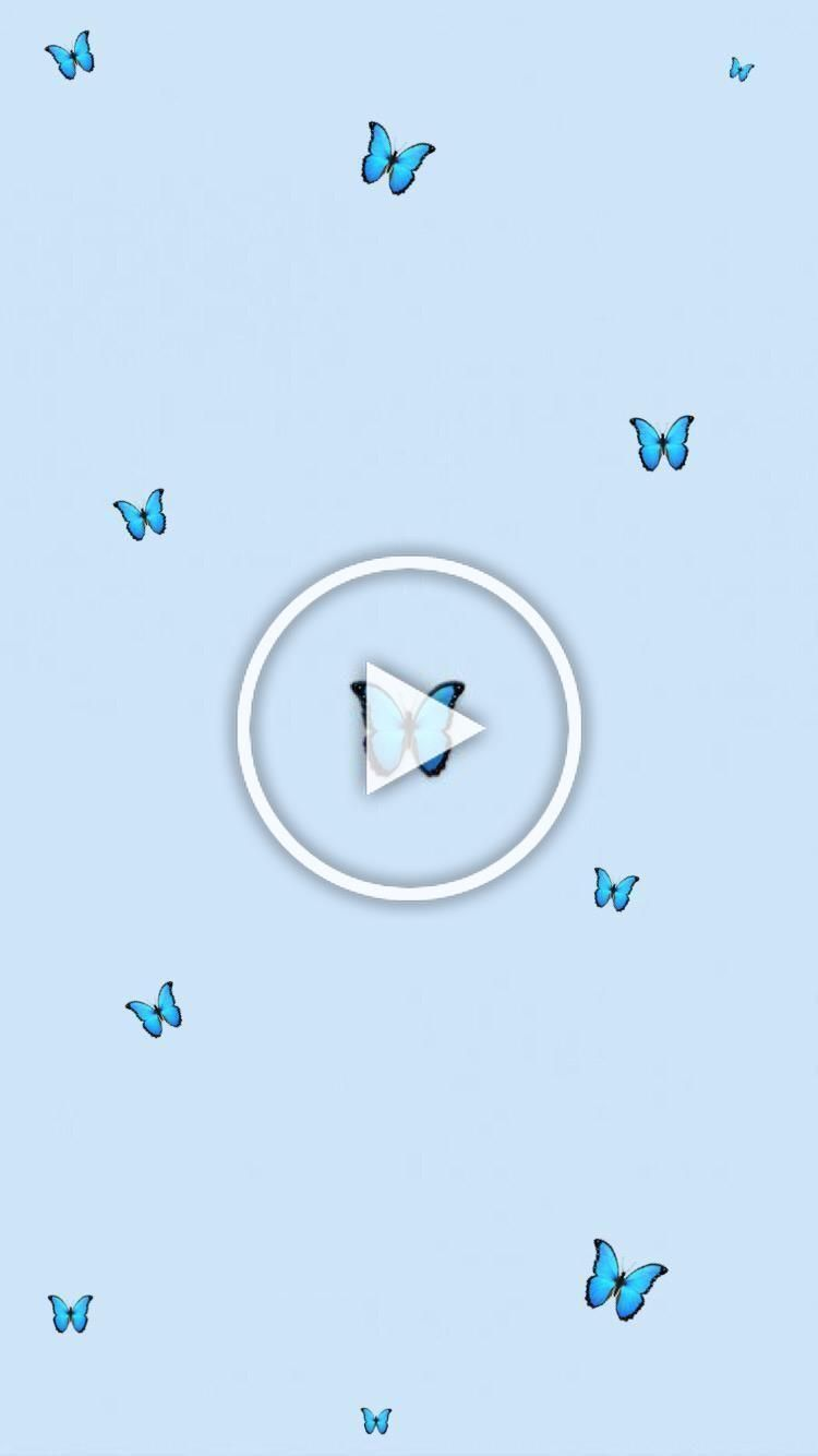 Aesthetic Butterfly Blueaesthetic Aesthetic Butterfly Wallpaper Tumblr Babyblue Blue Minimalist In 2020 Funny Wallpapers Night Light Diy Lock Screen Wallpaper