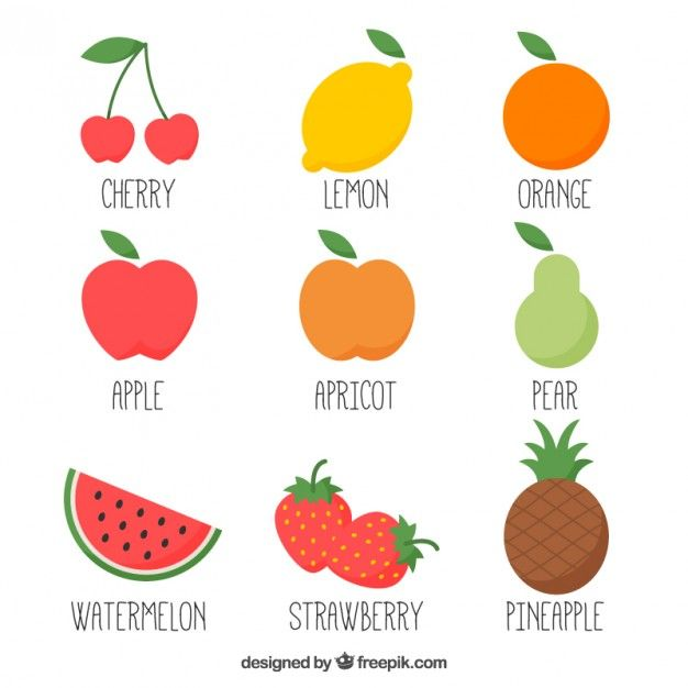 Download Hand Drawn Variety Of Fruits For Free Como Desenhar