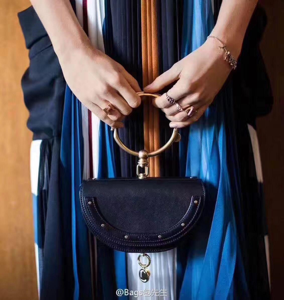 7b2ad0cdba7c Chloe woman nile ring handle bag original leather