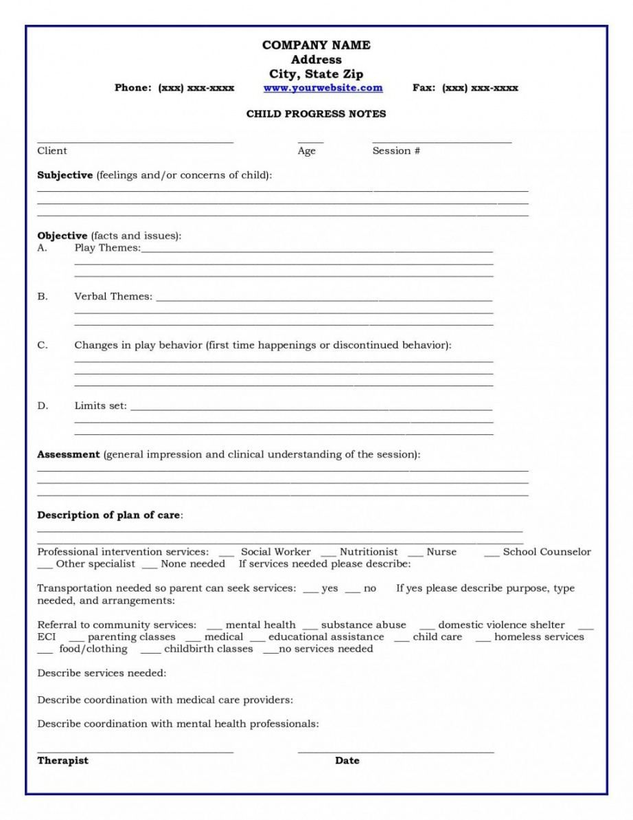 Best Psychotherapy Progress Note Template In 2021 Notes Template Therapy Worksheets Psychotherapy