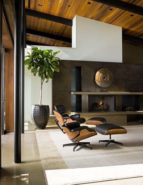 Pin By S A N D On I N D O O R Pinterest Living Room Chairs Modern Living Room Modern Eames Lounge Chair